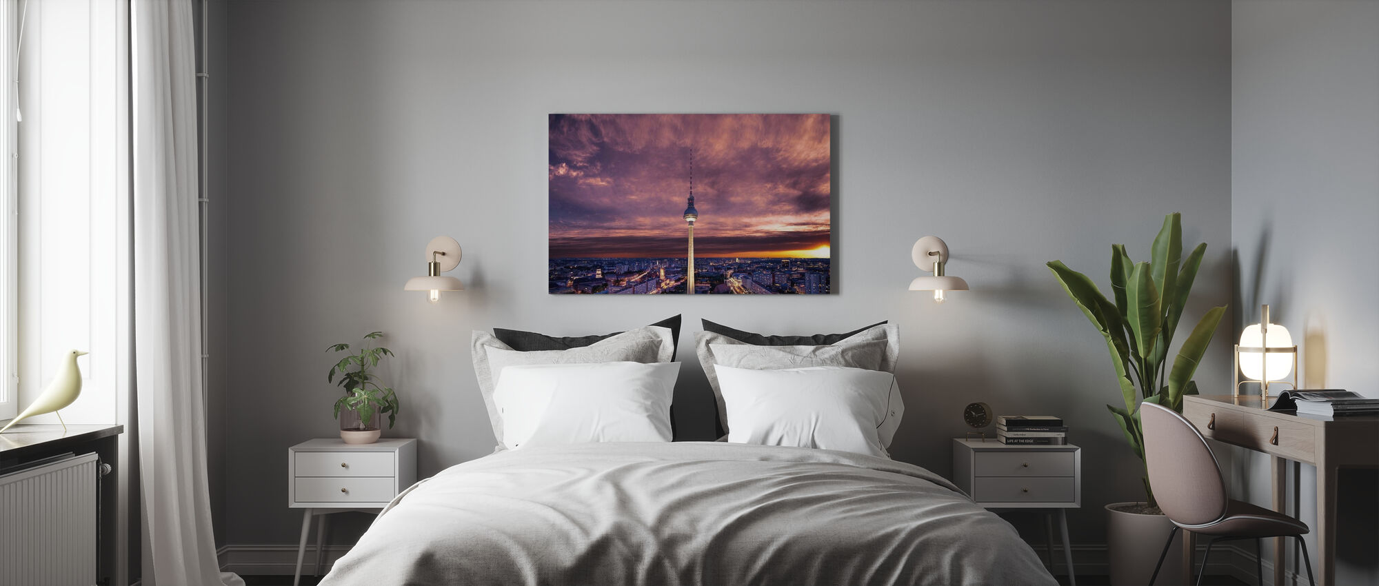 Tv-tower against Dramatic Sky - Canvas print - Bedroom