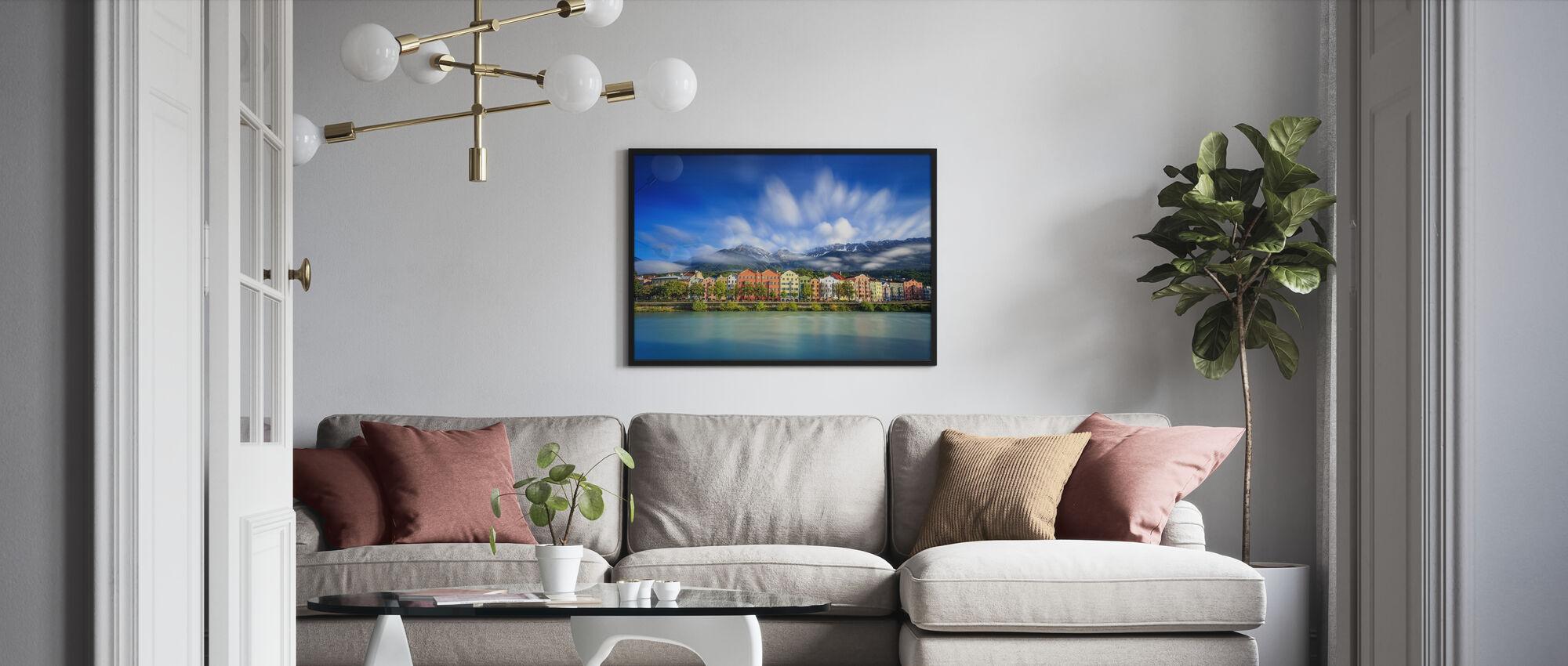 Wolken boven Innsbruck - Ingelijste print - Woonkamer