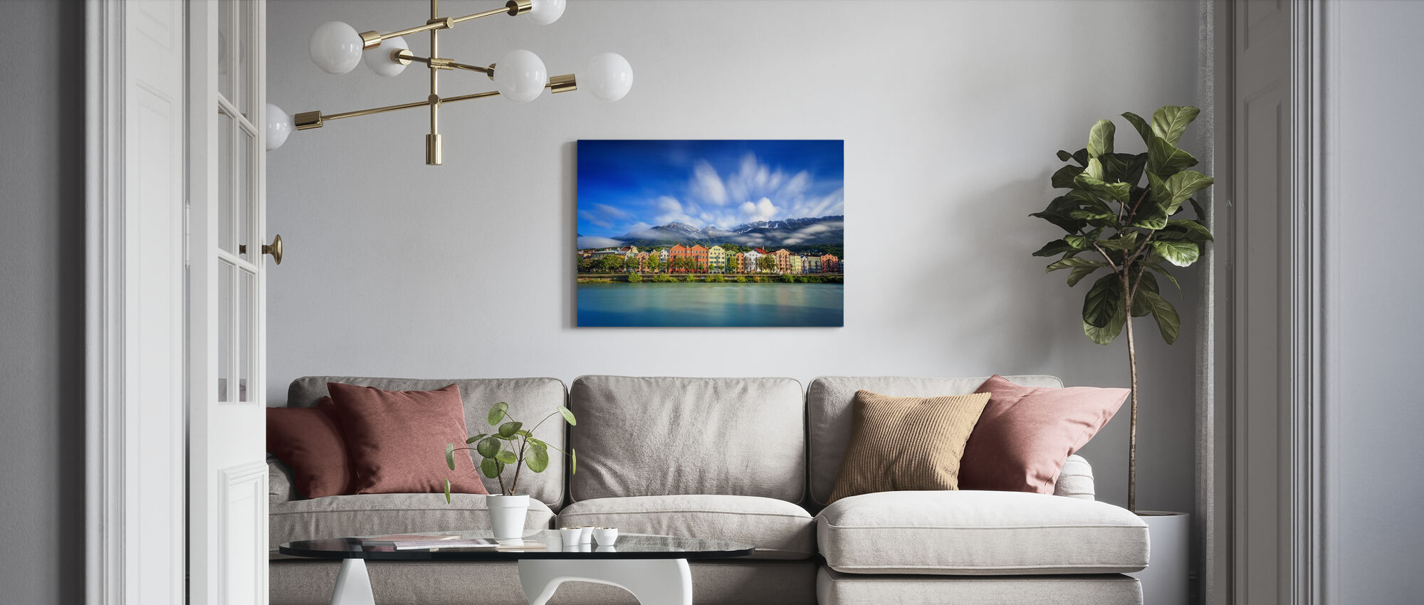 Clouds over Innsbruck - Canvas print - Living Room