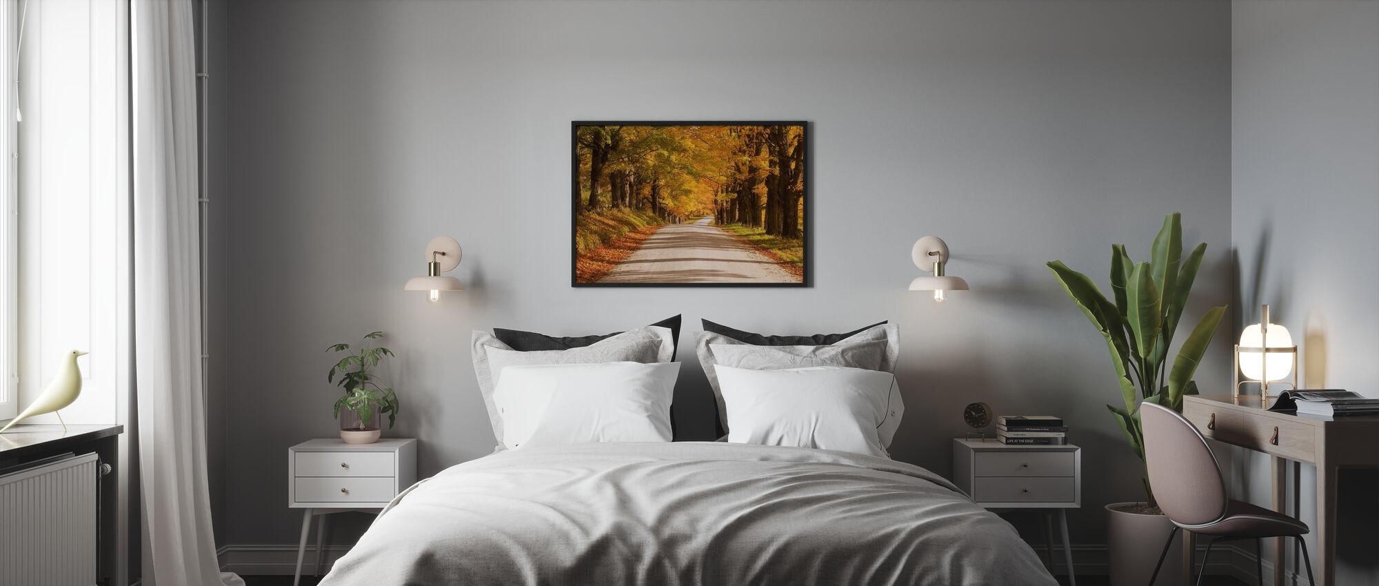 Vaahteran katos - Kehystetty kuva - Makuuhuone