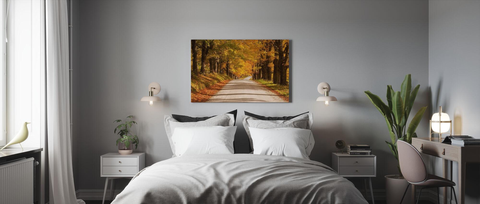 Baldachin aus Ahorn - Leinwandbild - Schlafzimmer