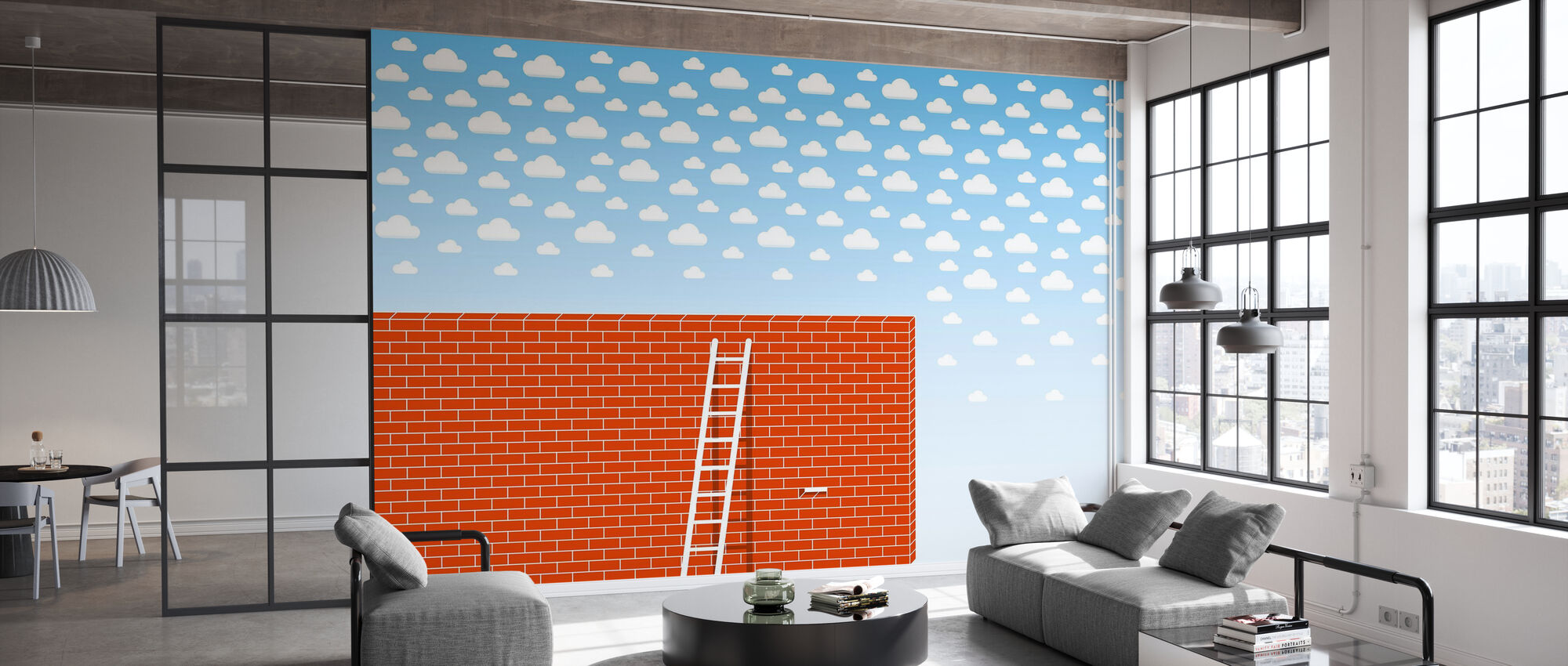 Cumulus Tegel Wall - Wallpaper - Office