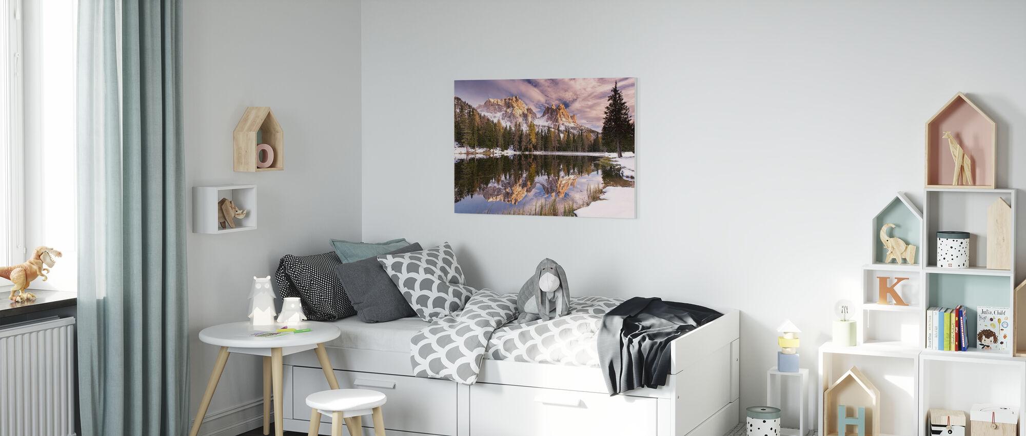 Peak in the Water - Canvas print - Kids Room