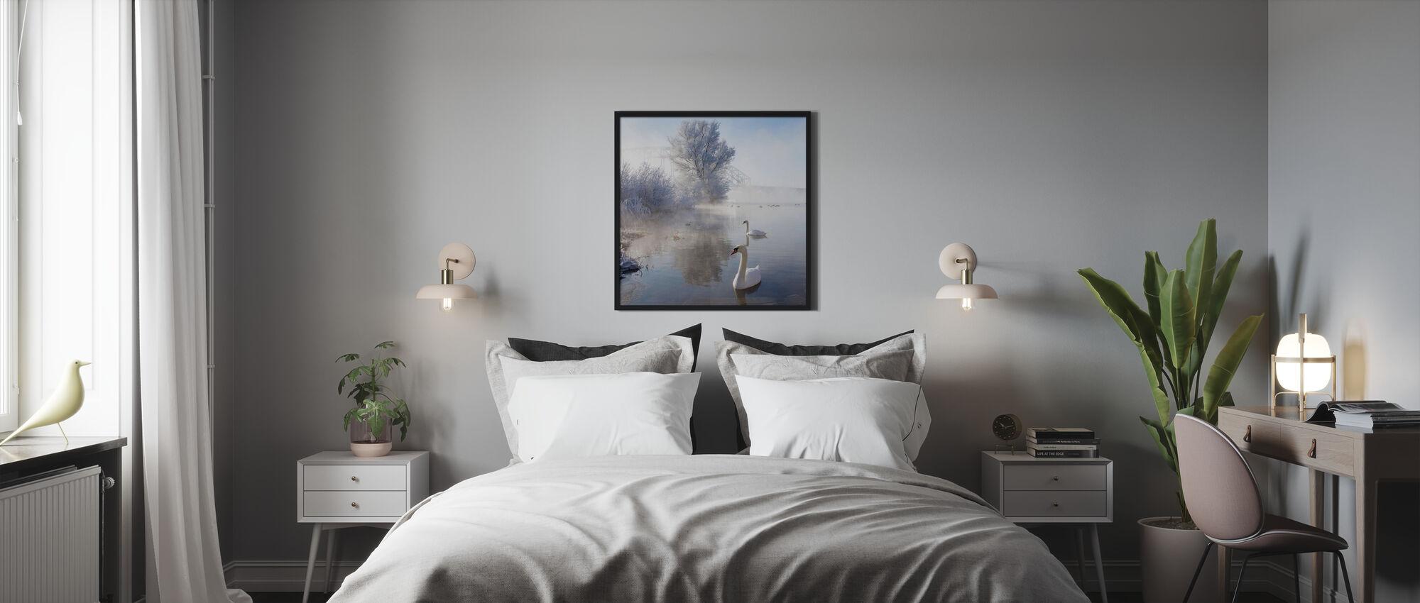 Icy Swan Lake - Poster - Bedroom