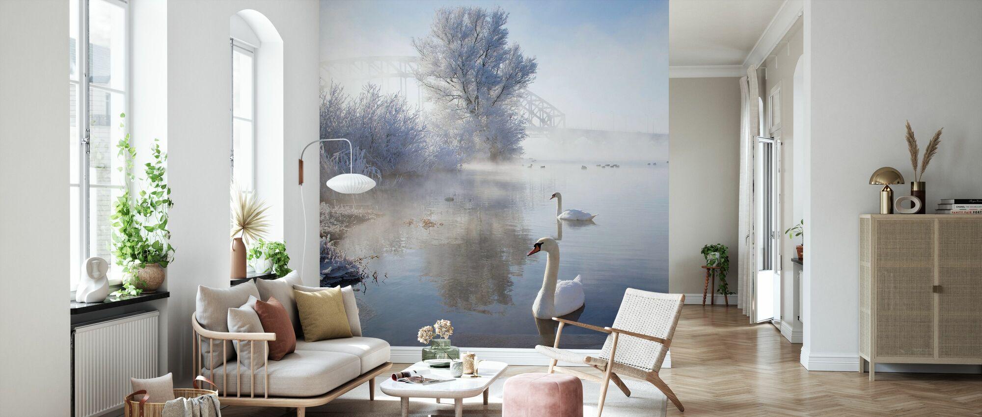 Icy Swan Lake - Tapet - Vardagsrum