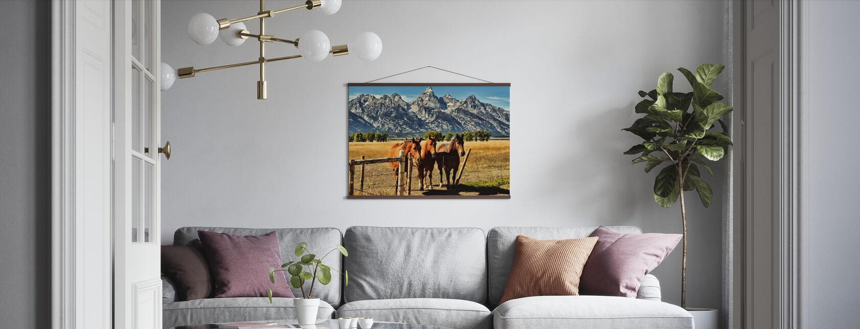 Trio voor Teton Mountain Range - Poster - Woonkamer
