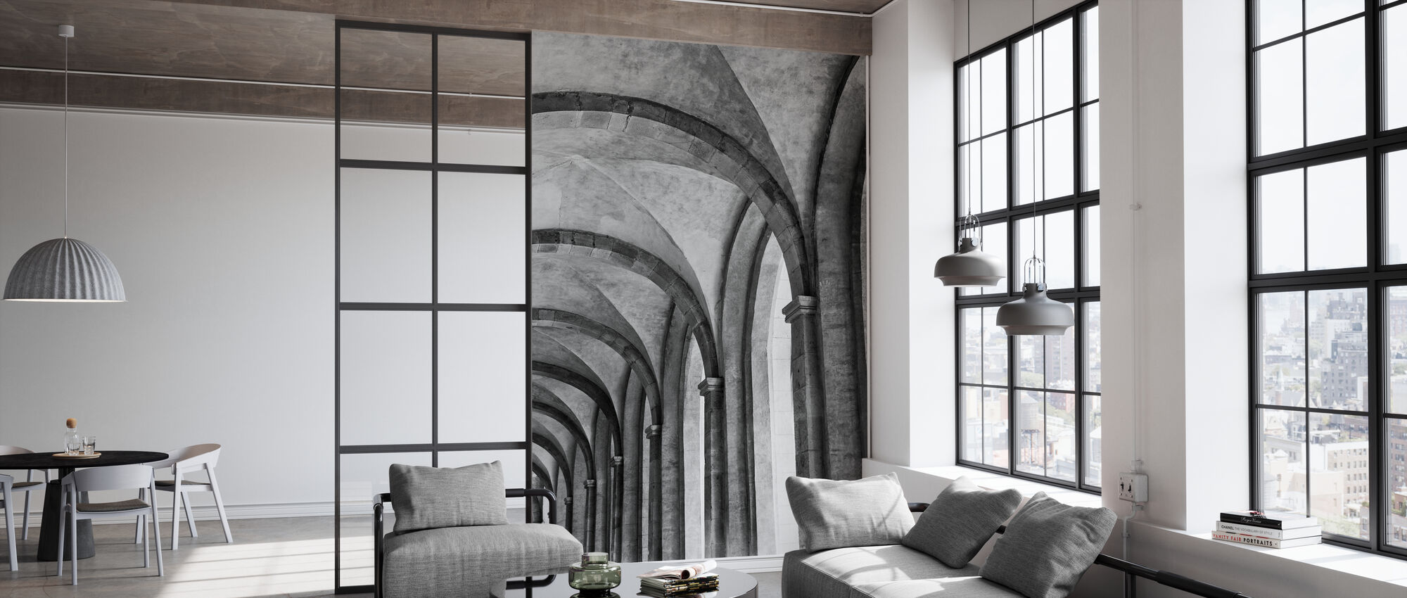 Cathedral Vault - Wallpaper - Office