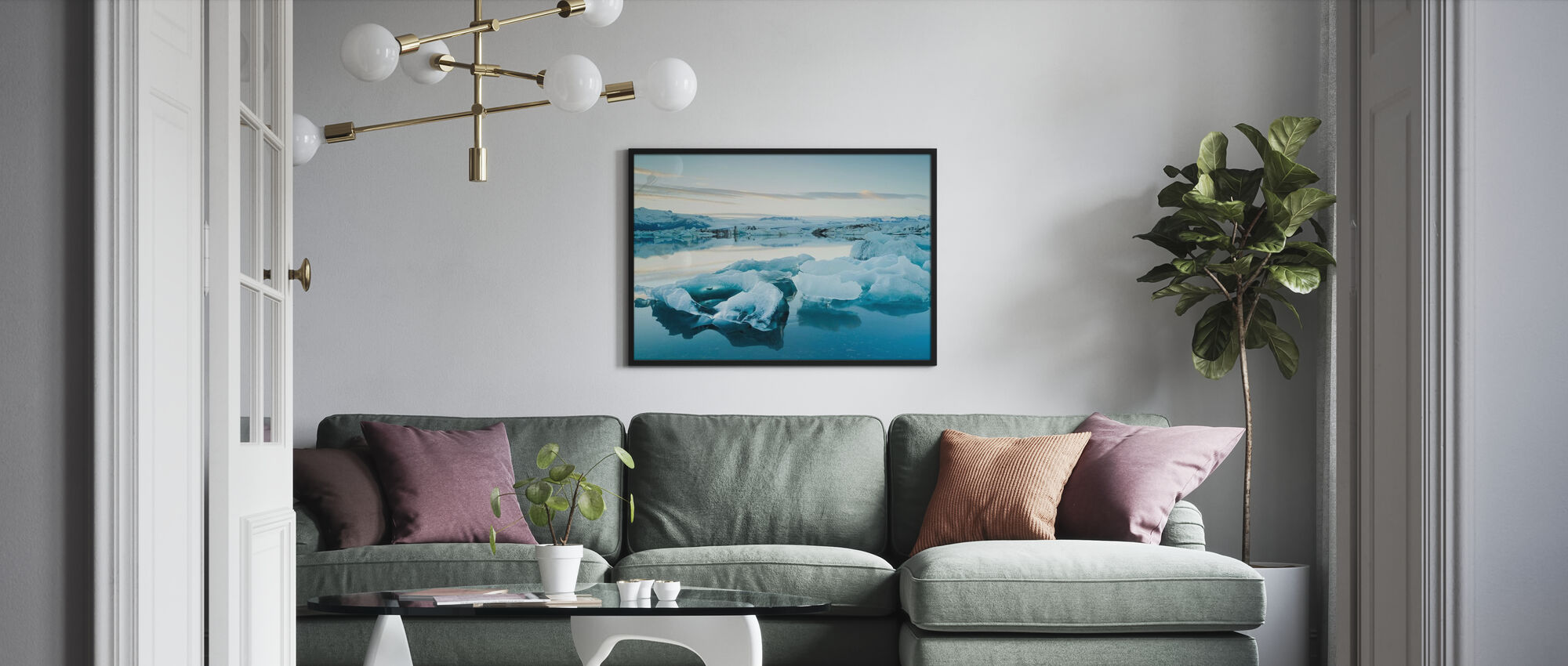 Sculptural Ice - Poster - Living Room