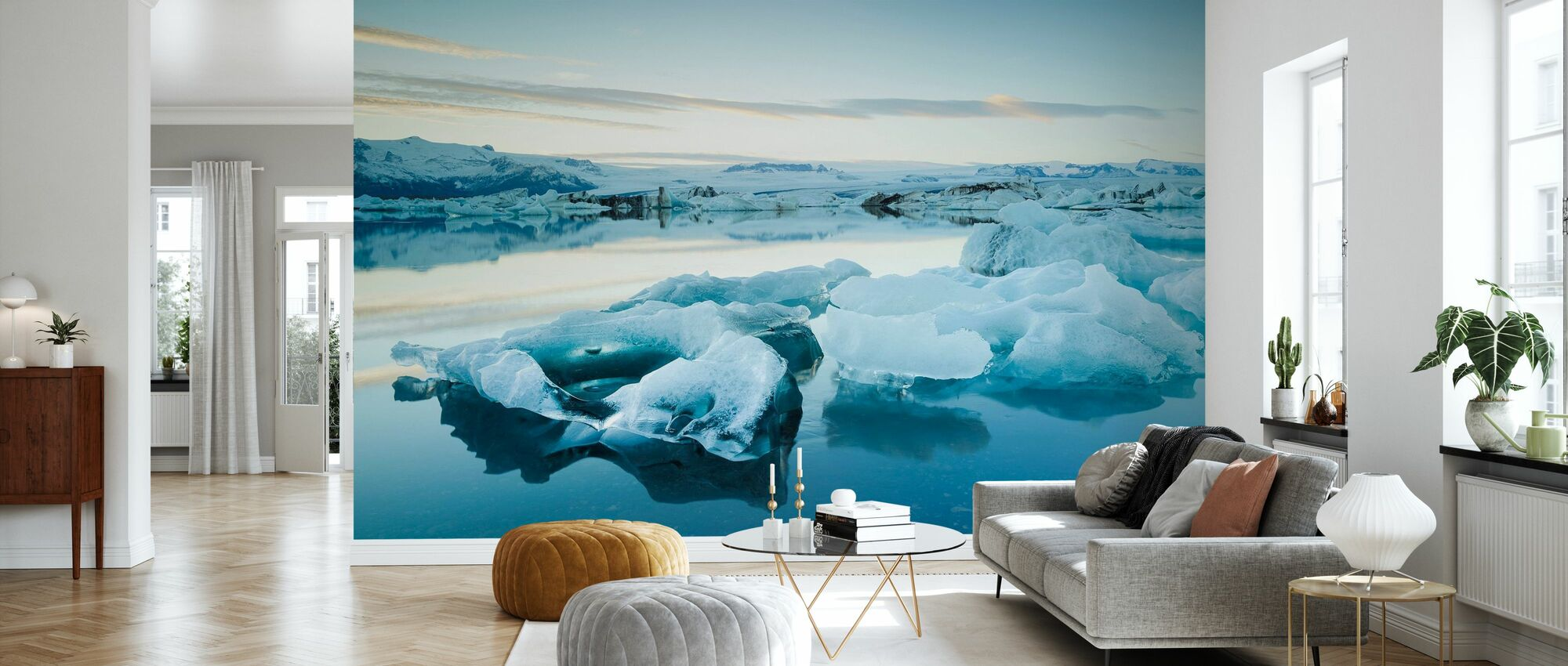 Sculptural Ice - Wallpaper - Living Room