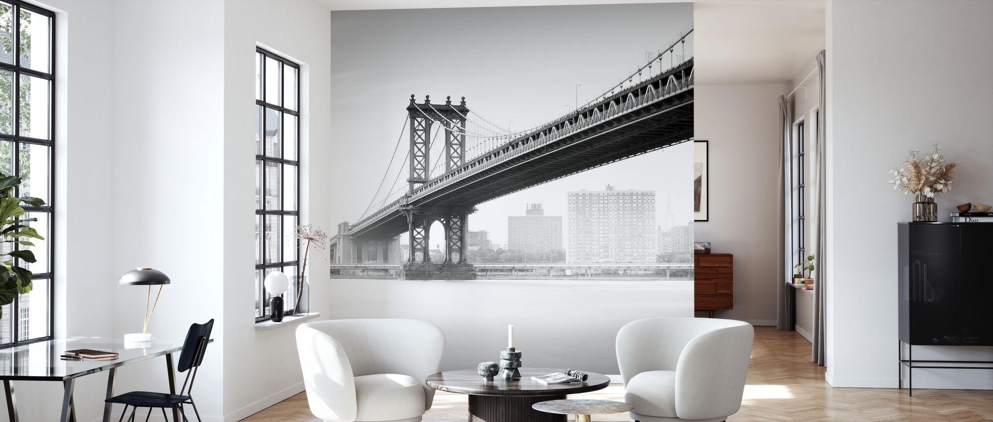 Studie van Manhattan Bridge - Behang - Woonkamer