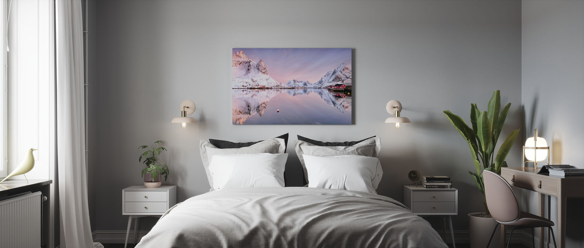 Sunrise at the Fjord - Canvas print - Bedroom