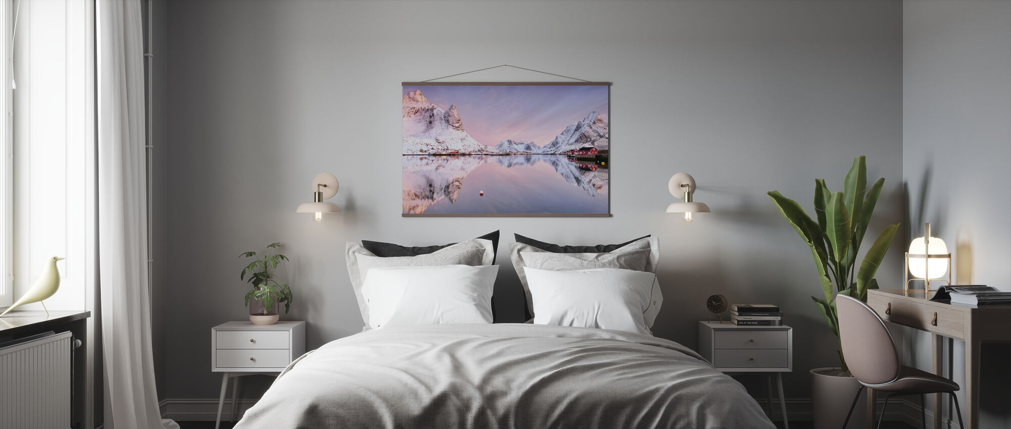 Sunrise at the Fjord - Poster - Bedroom