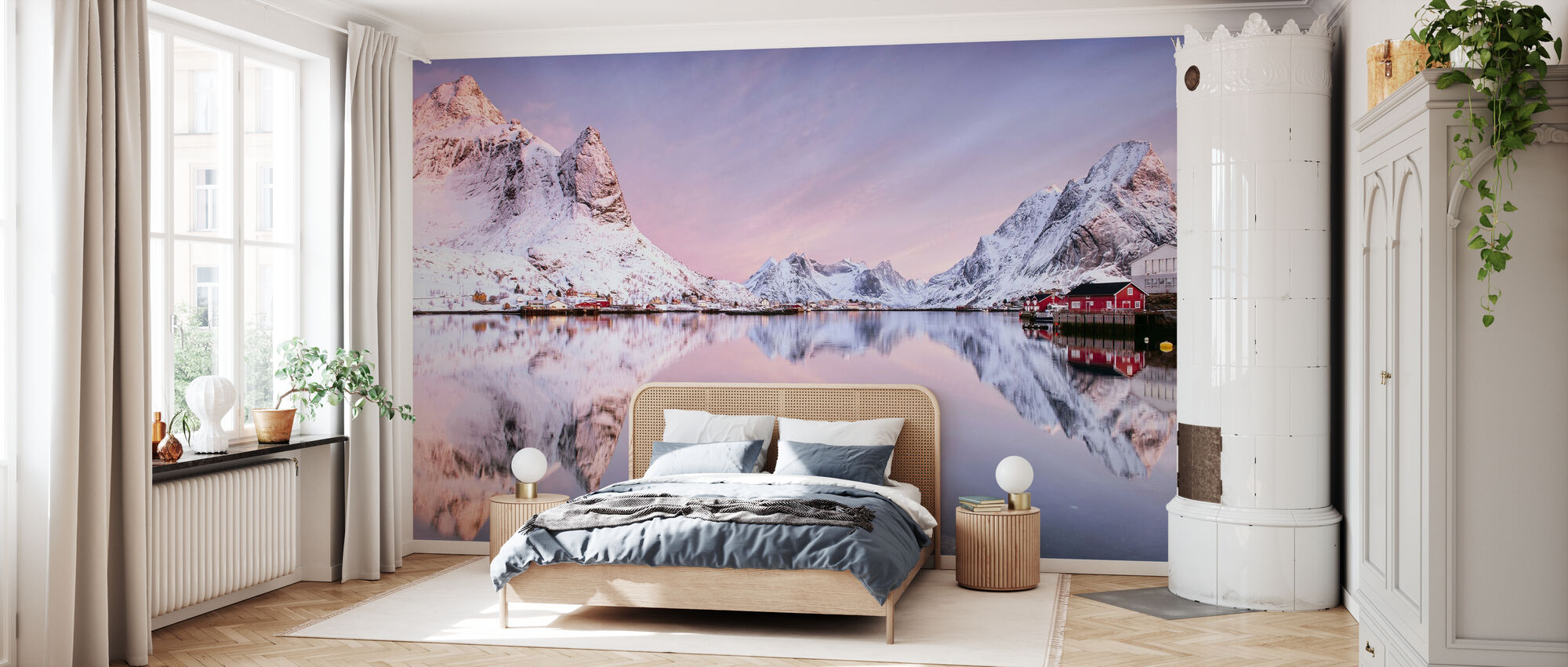 Sunrise at the Fjord - Wallpaper - Bedroom
