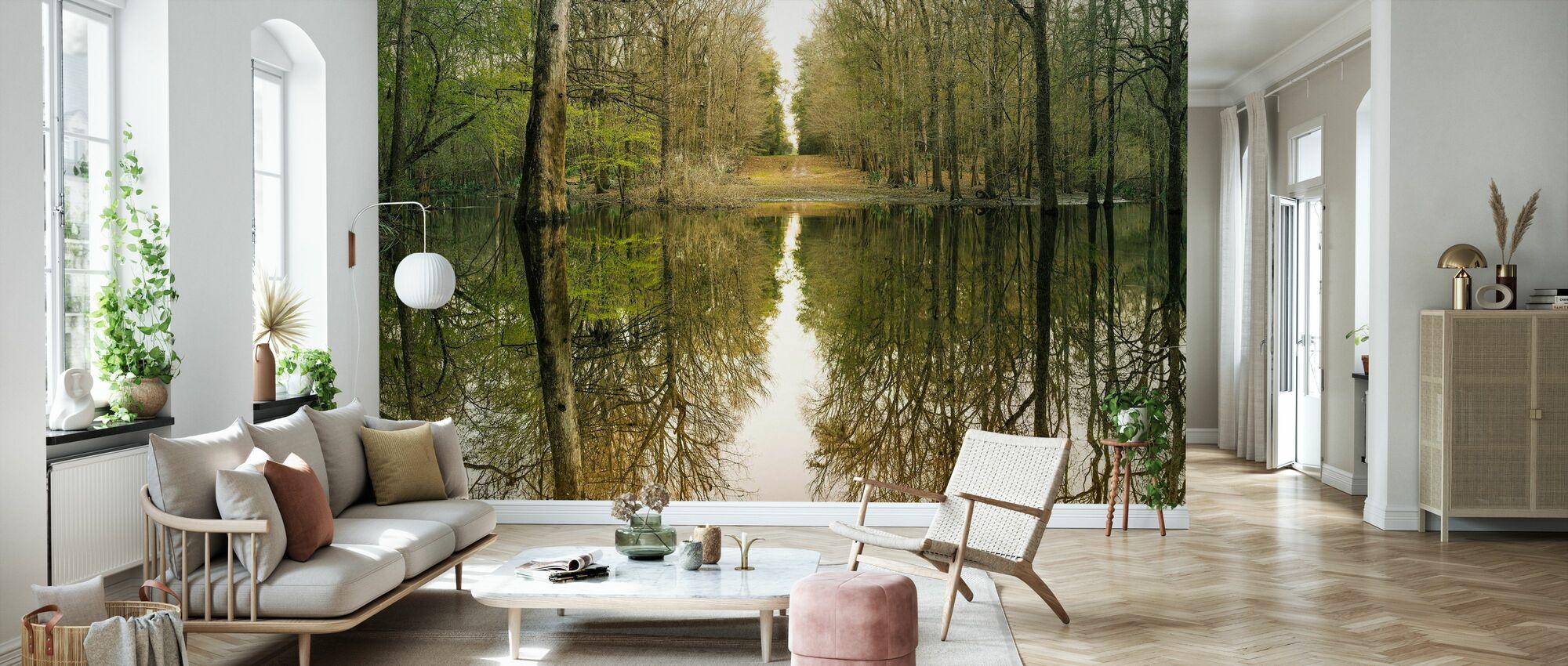 Suwanne Reflexion Panorama - Tapete - Wohnzimmer