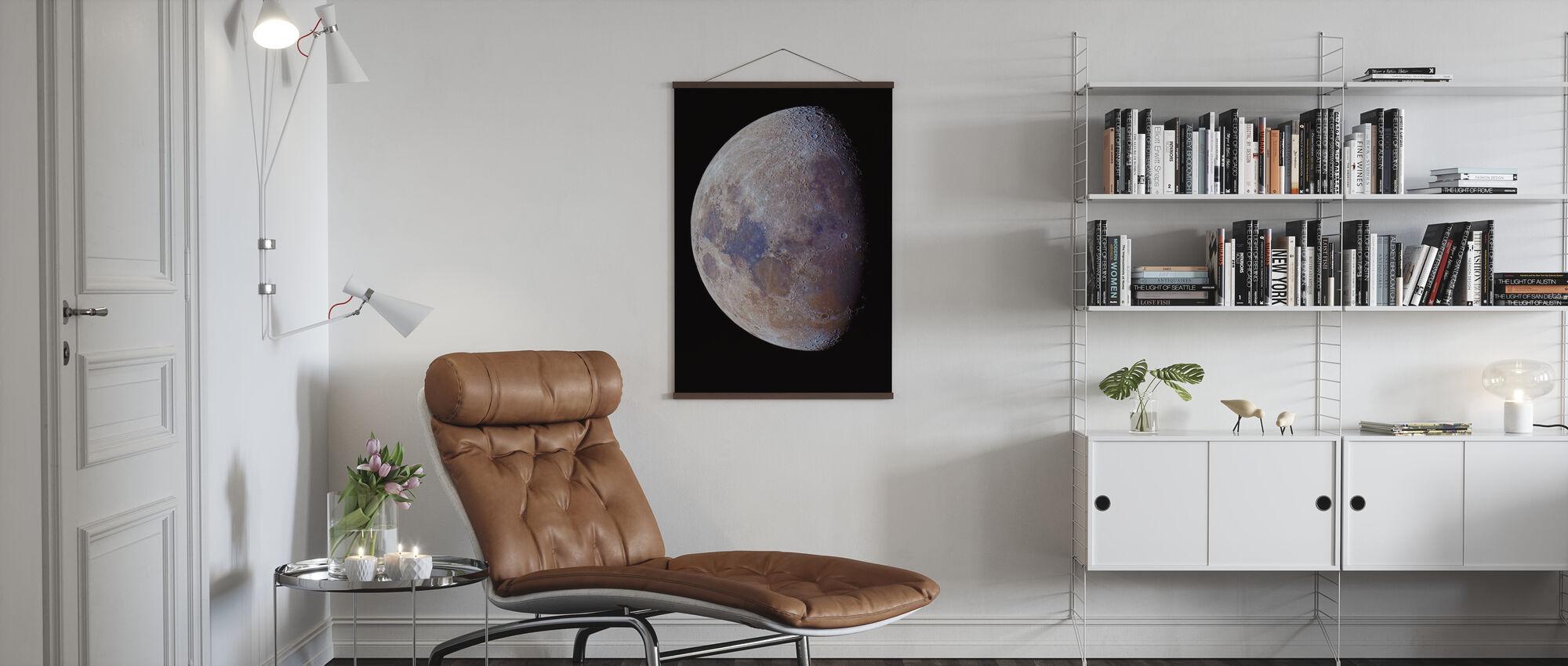 Lunar Colors - Poster - Living Room