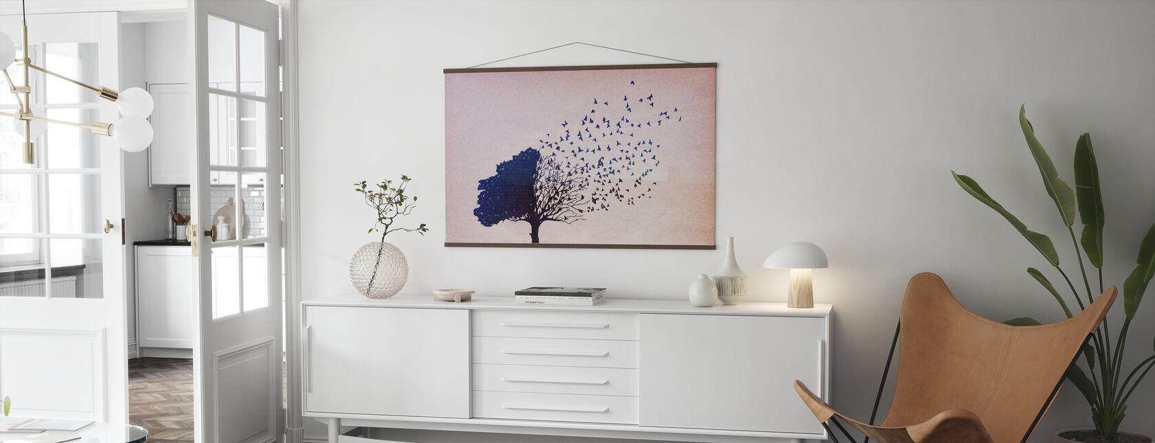 Vogels Bladeren - Poster - Woonkamer