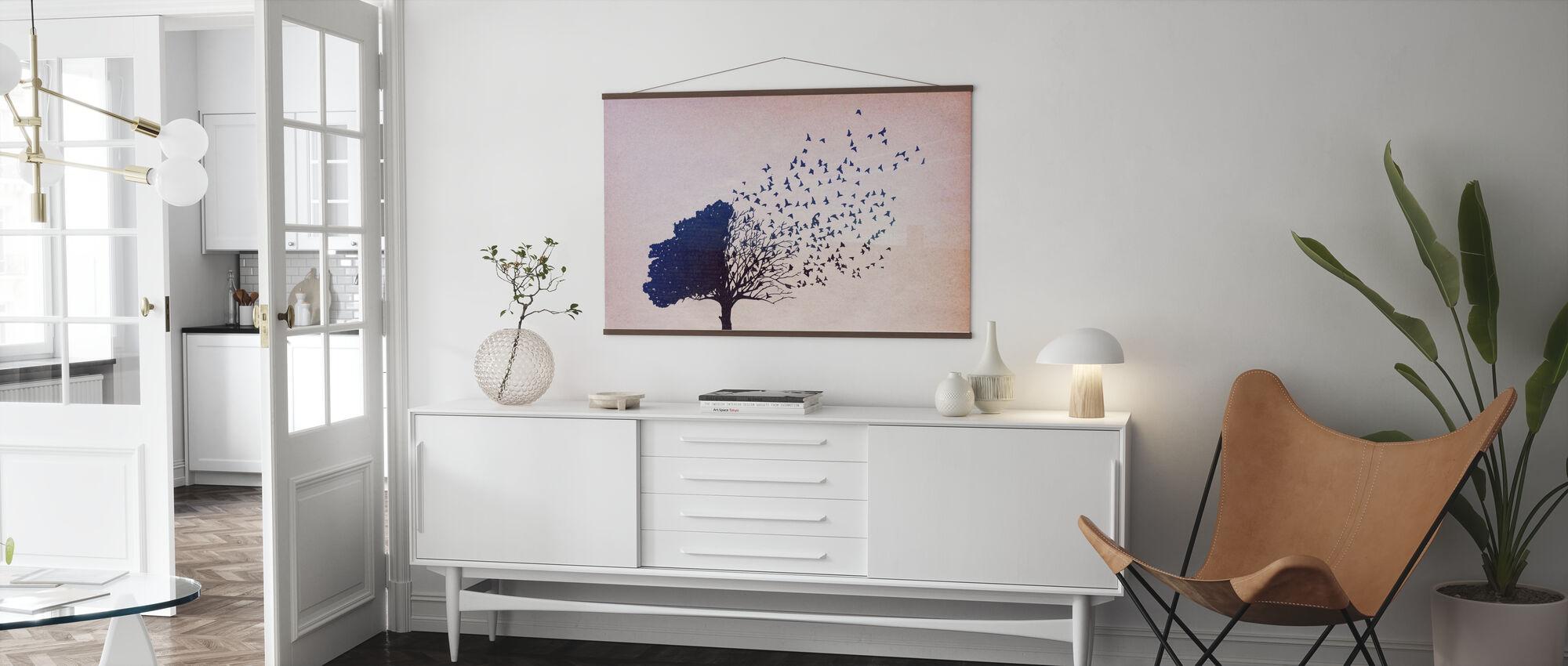 Vögel Blätter - Poster - Wohnzimmer