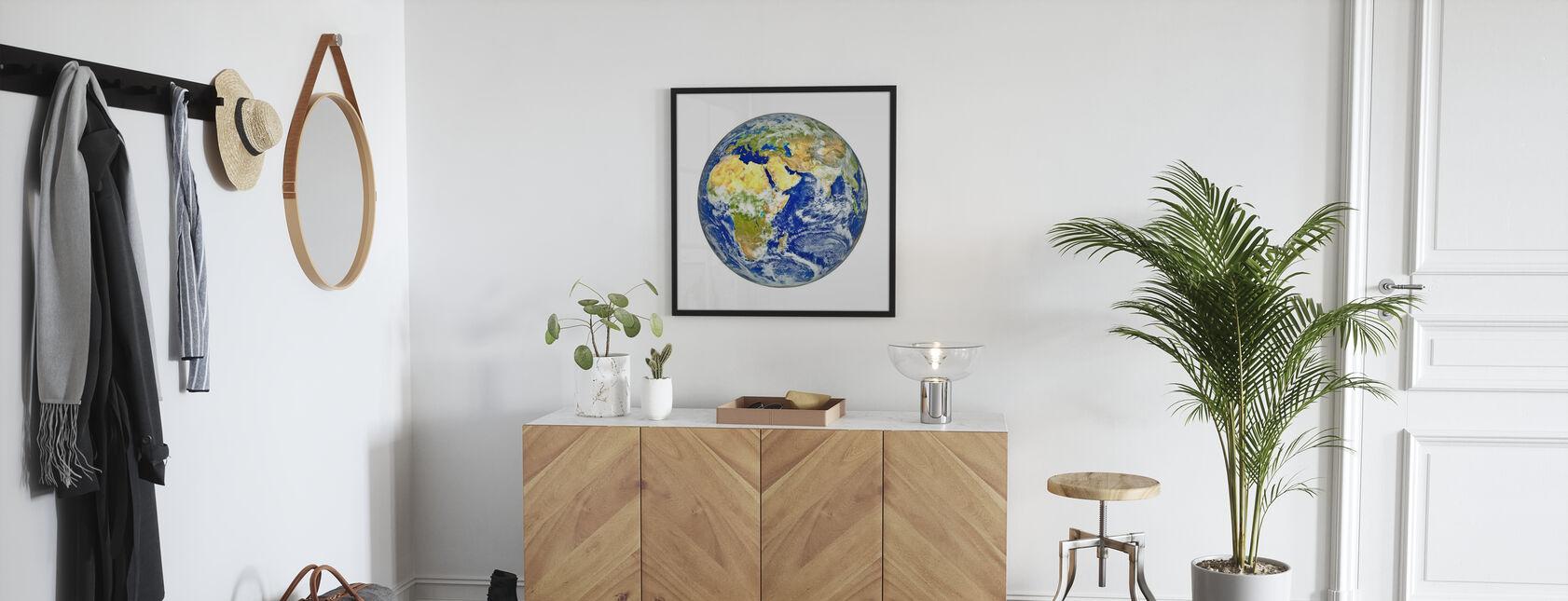 Jorden med afrikanske og asiatiske kontinent - Plakat - Entré