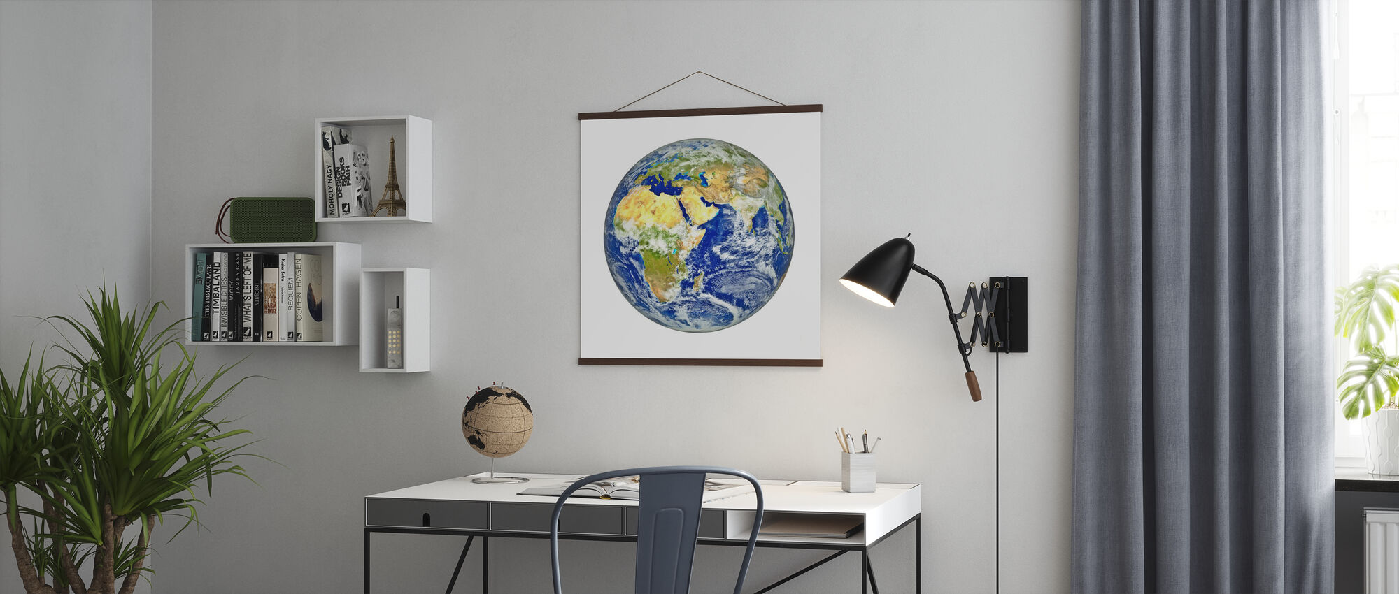 Earth with African and Asian Continent - Poster - Office