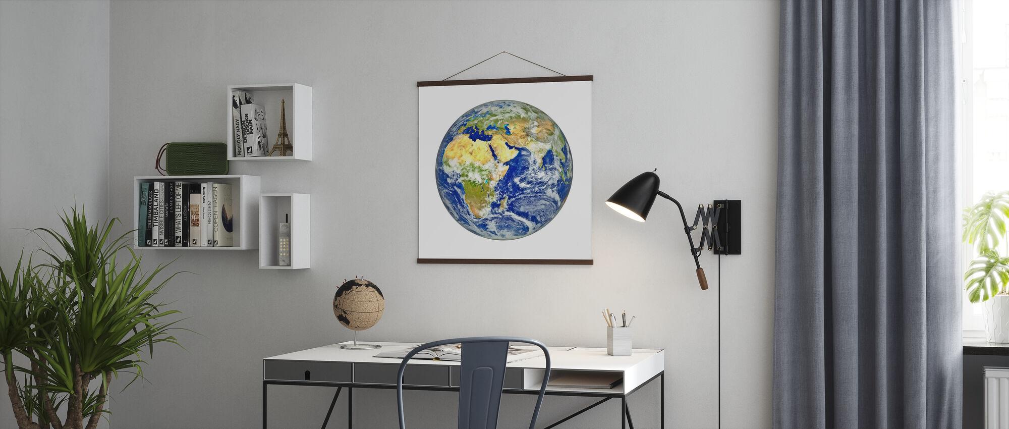 Maa Afrikan ja Aasian mantereen kanssa - Juliste - Toimisto