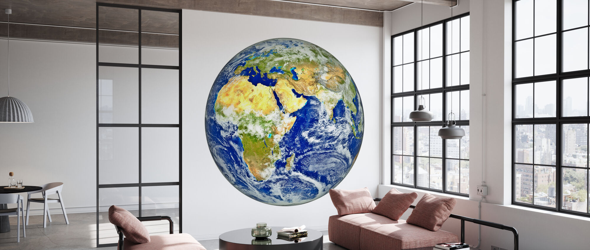 Earth with African and Asian Continent - Wallpaper - Office