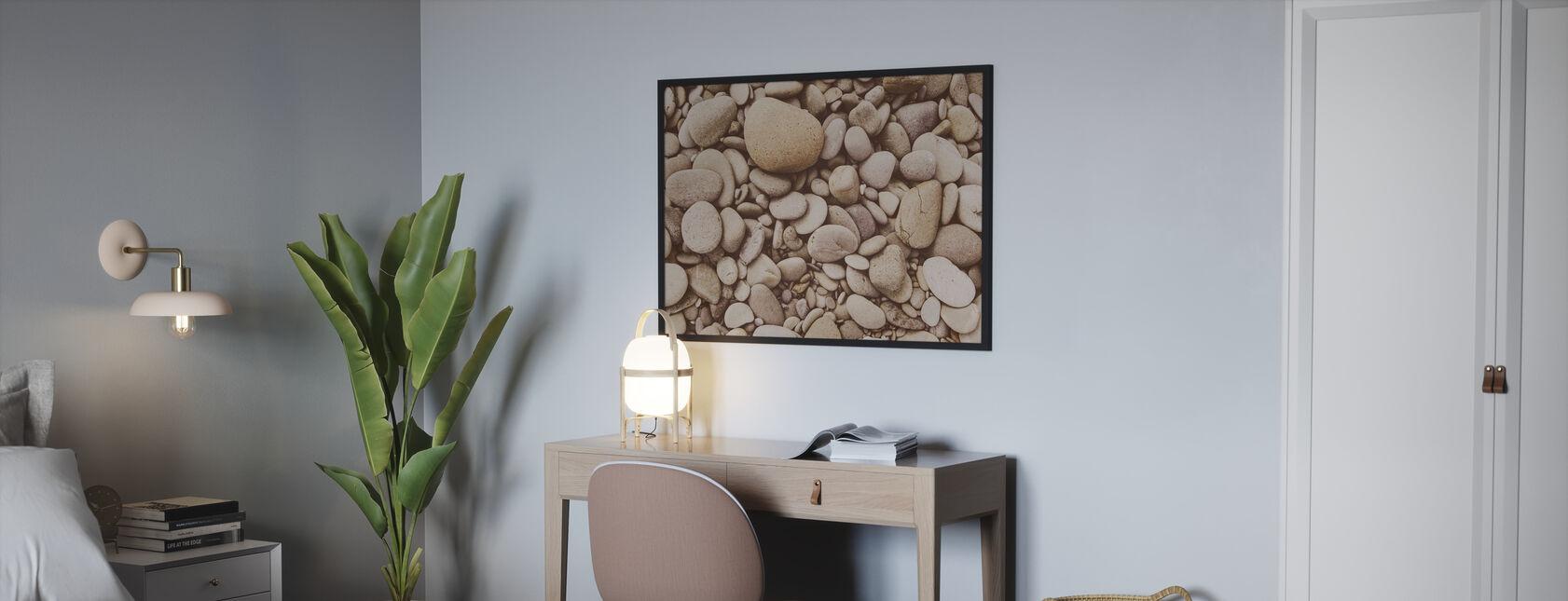 Gepolijst kiezelsteen - Poster - Slaapkamer