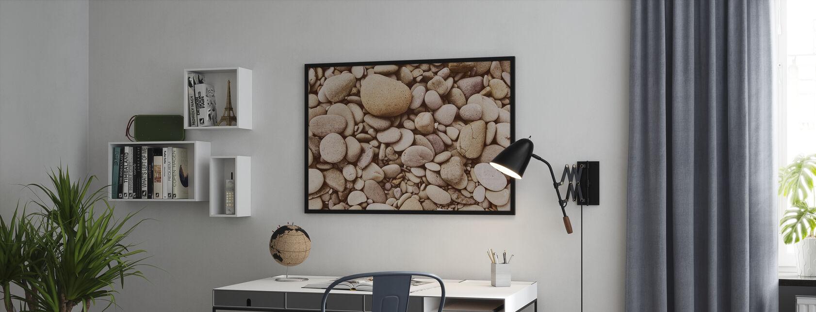 Gepolijst kiezelsteen - Ingelijste print - Kantoor