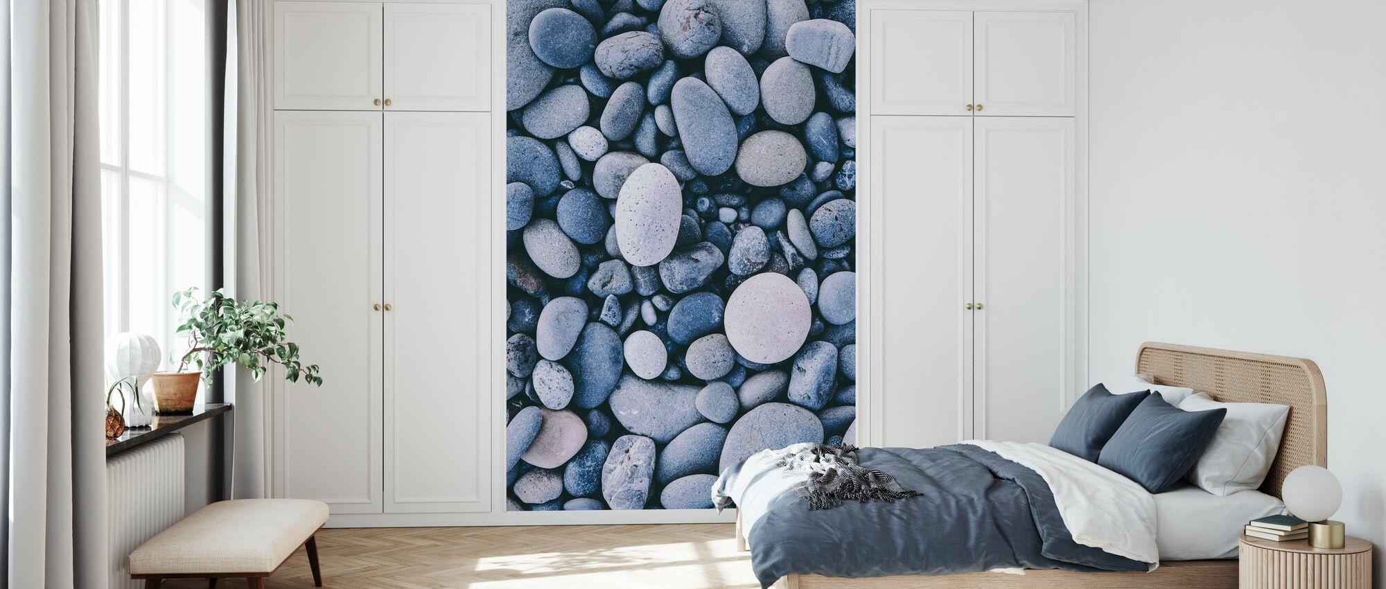 Glatte Kieselsteine - Tapete - Schlafzimmer