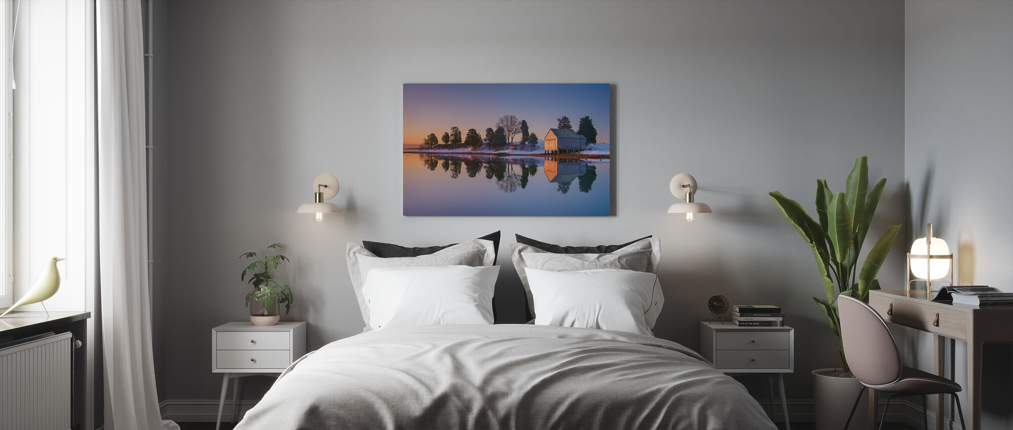 Winter Reflection - Canvas print - Bedroom