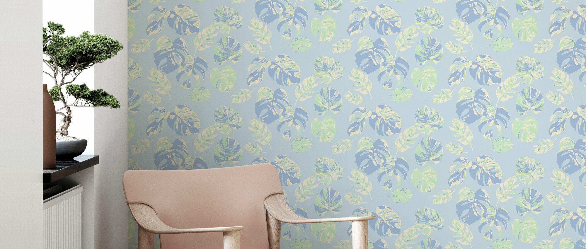 Monstera no 1 - Wallpaper - Living Room