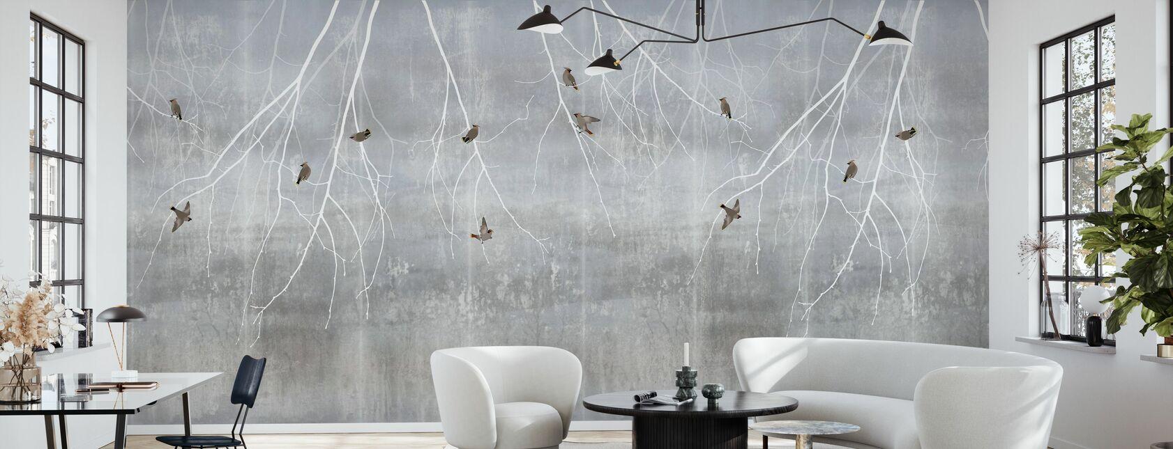 Bøhmiske Fugle - Lyseblå - Tapet - Stue