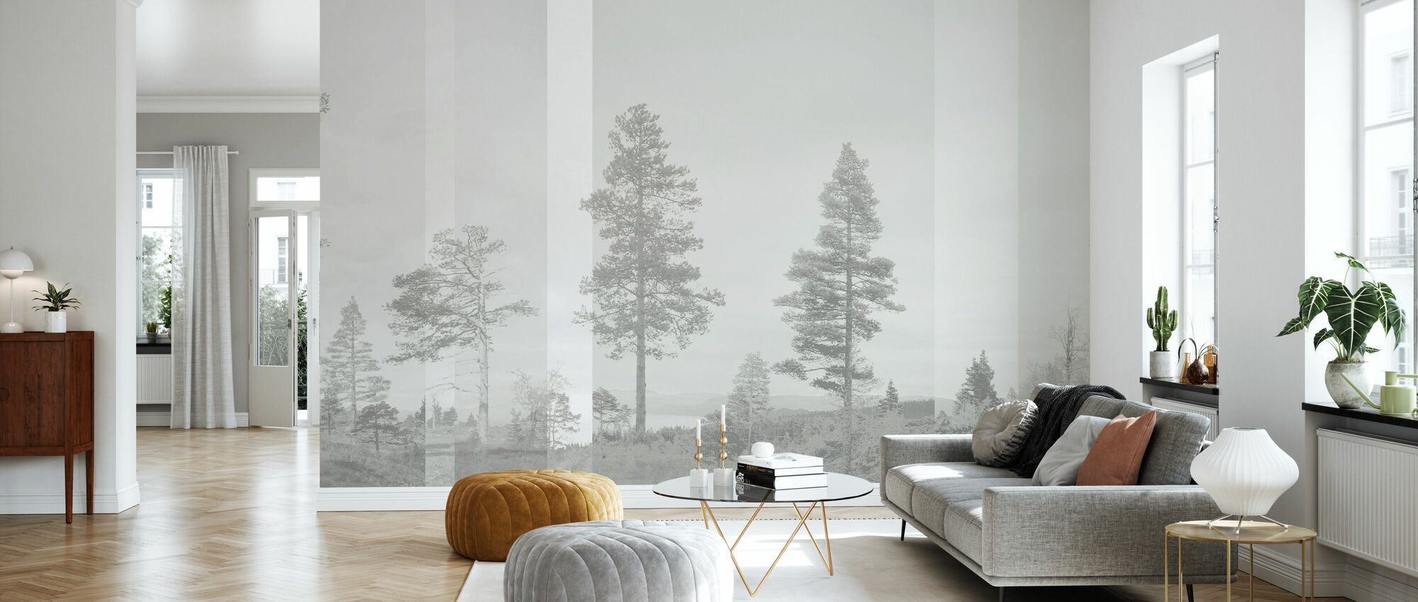 Panorama - Beige - Wallpaper - Living Room