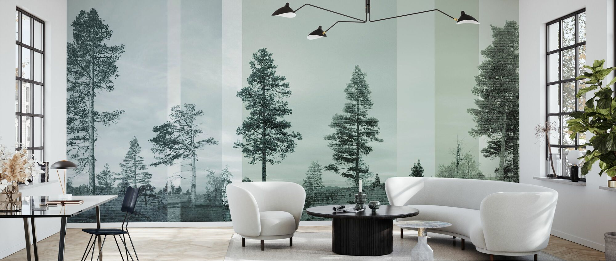 Panorama - Bluegreen - Wallpaper - Living Room