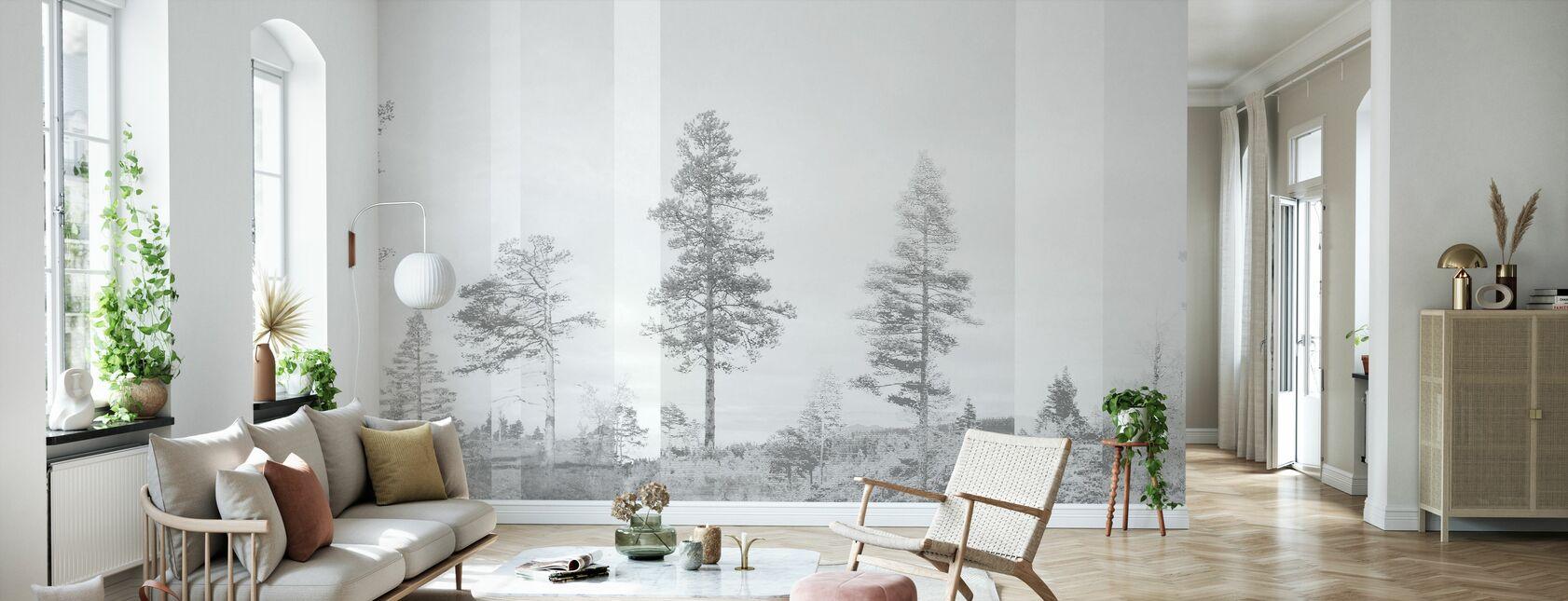 Panorama - Grey - Behang - Woonkamer