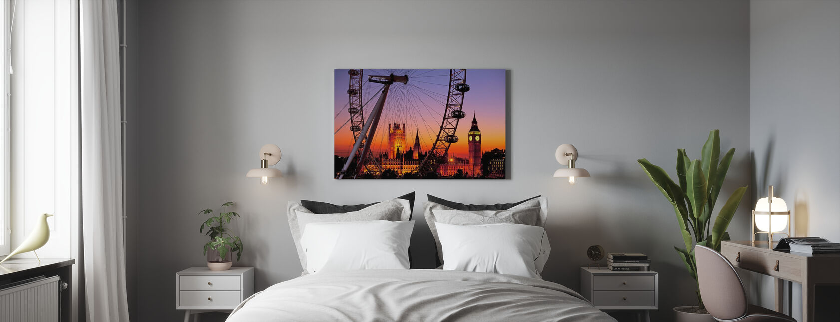London Eye - Canvas print - Bedroom