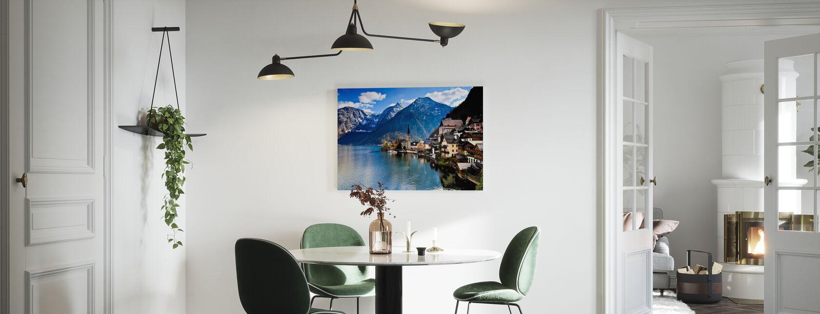 Small Austrian Mountain Village - Canvas print - Kitchen