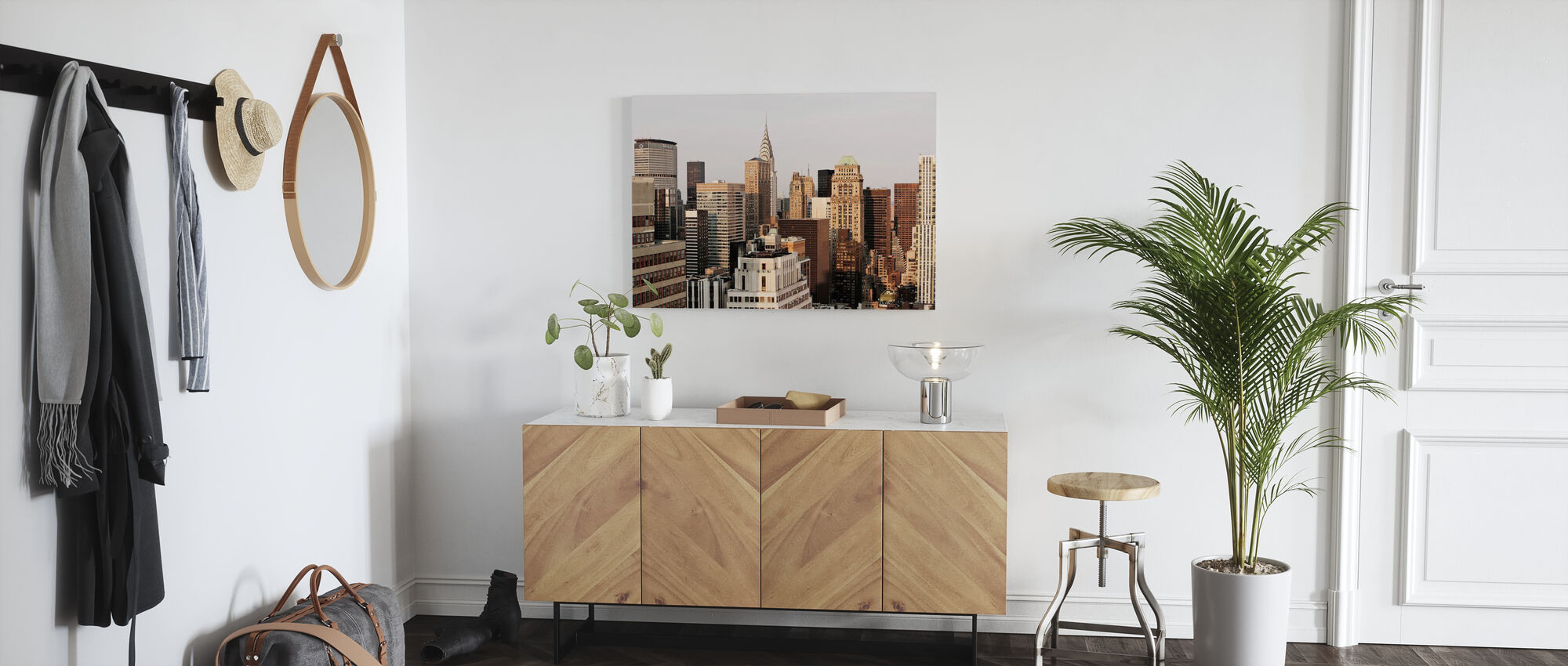 Shades of Beige and Sand - Canvas print - Hallway