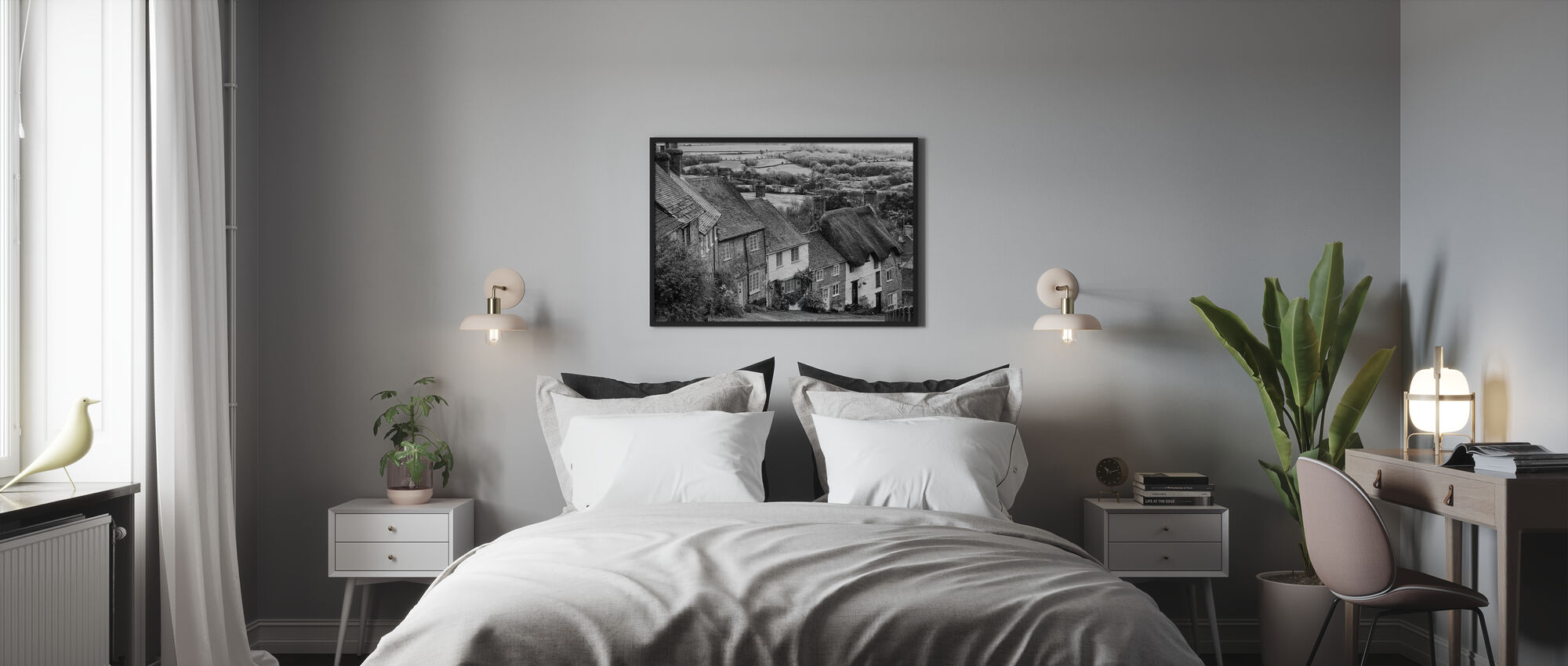 Gold Hill Shaftsbury Somerset - Framed print - Bedroom