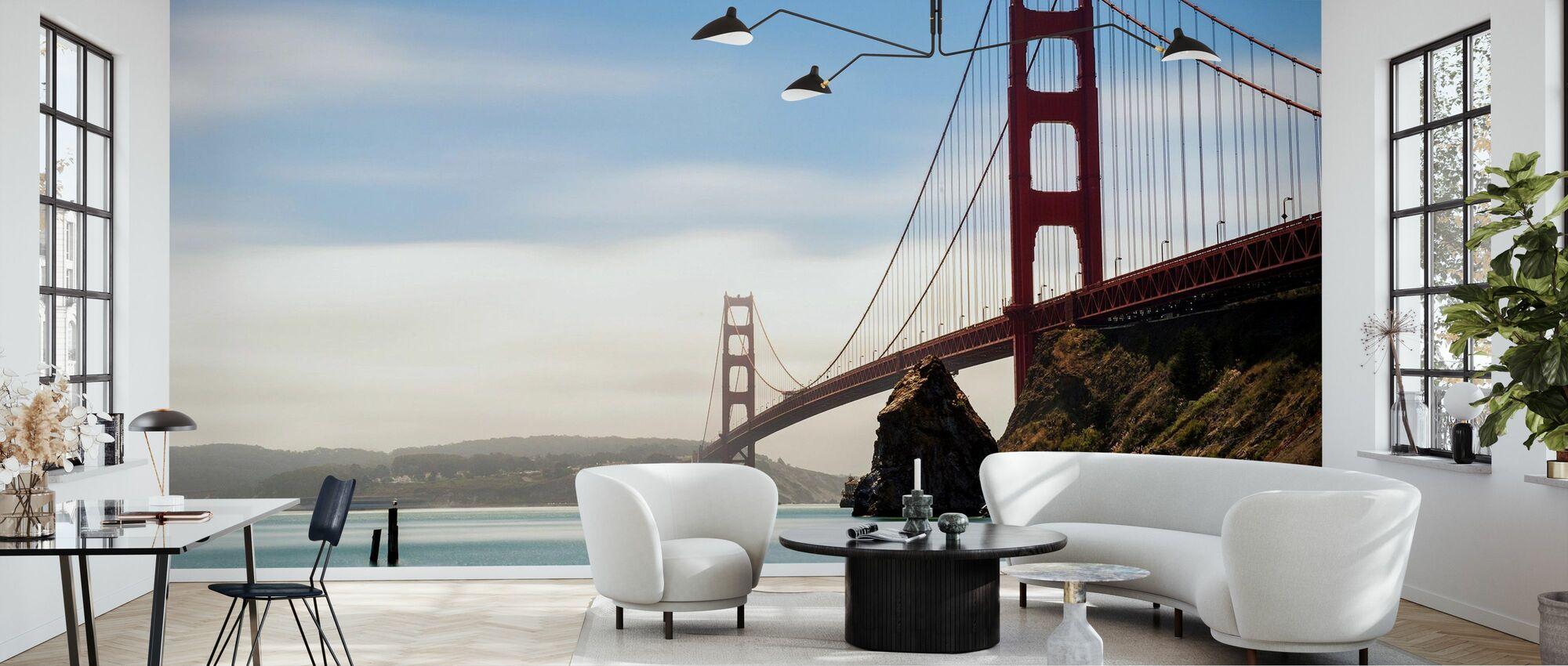 Longtime Exposure of the Golden Gate Bridge - Wallpaper - Living Room