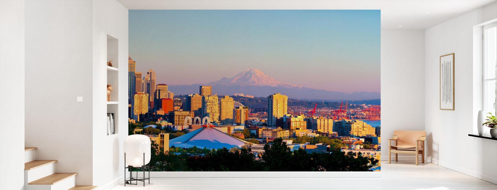 Seattle and Mount Rainier - Wallpaper - Hallway