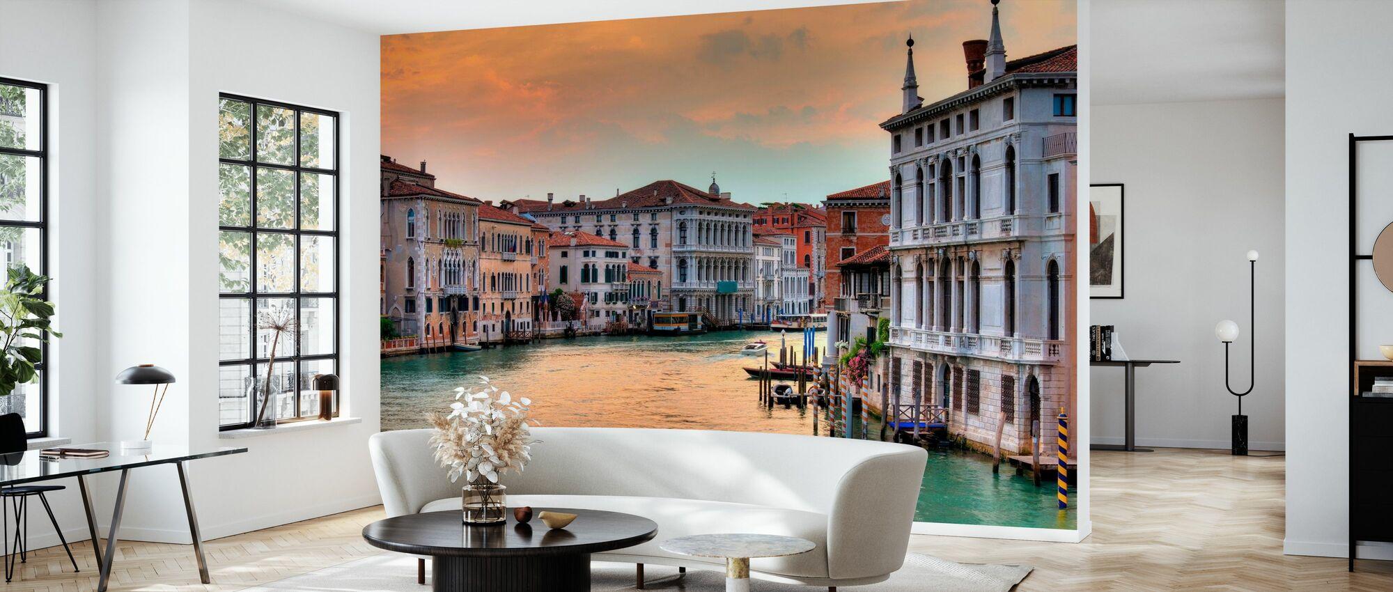 Grand Canal at Dusk - Wallpaper - Living Room
