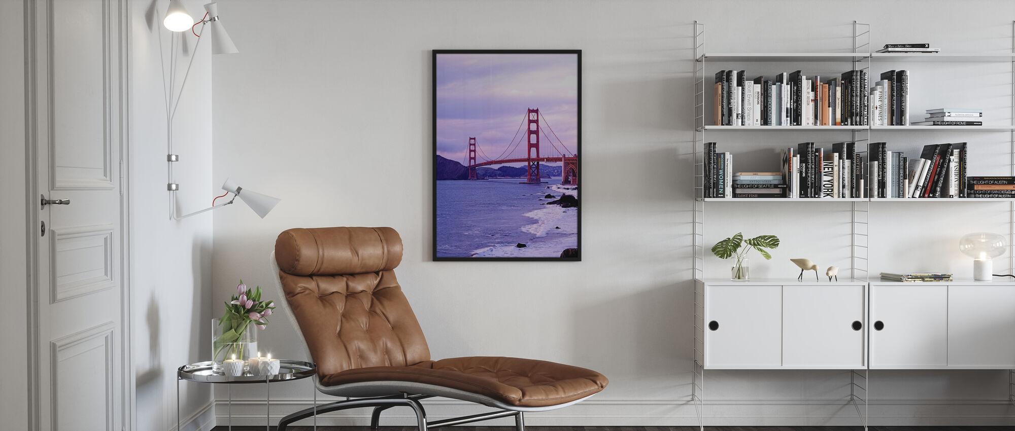 Bay Bridge in Lila Haze - Poster - Wohnzimmer