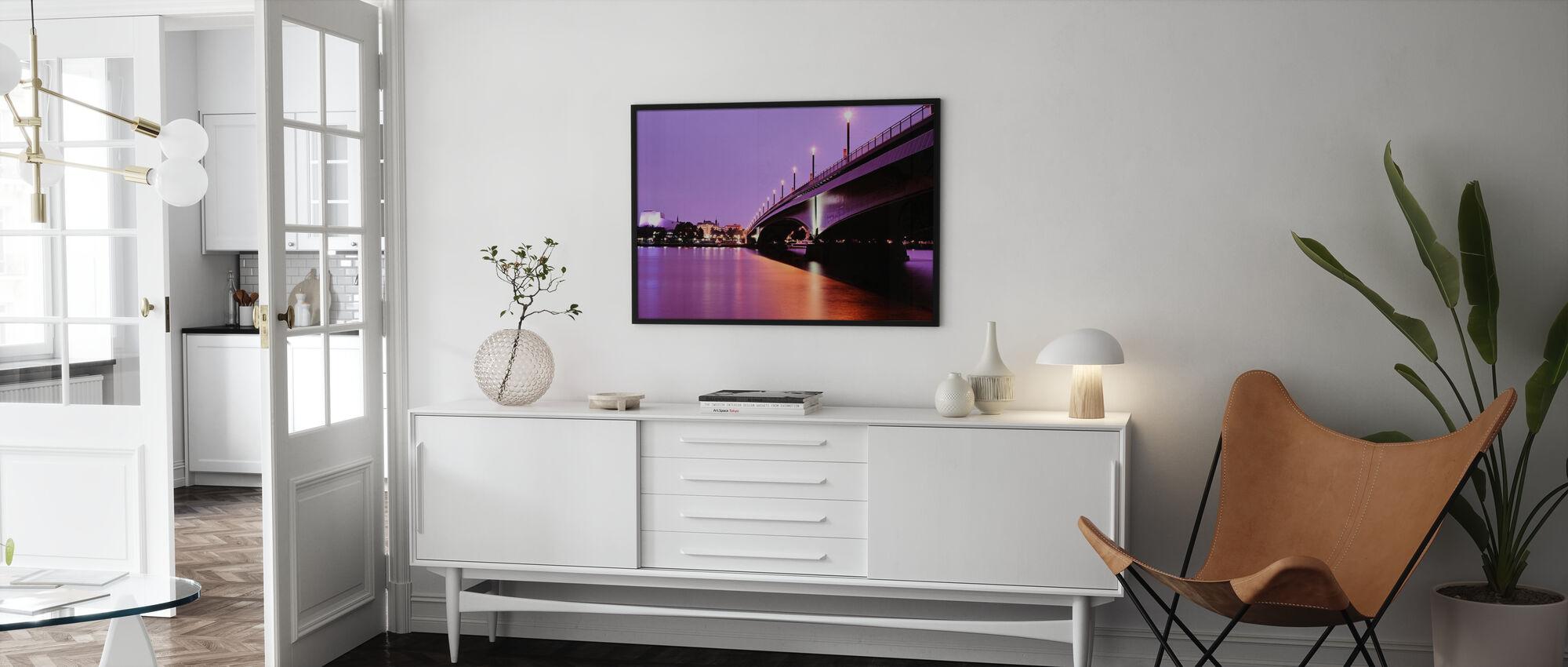 Kennedy Bridge over the River Rhine - Poster - Living Room