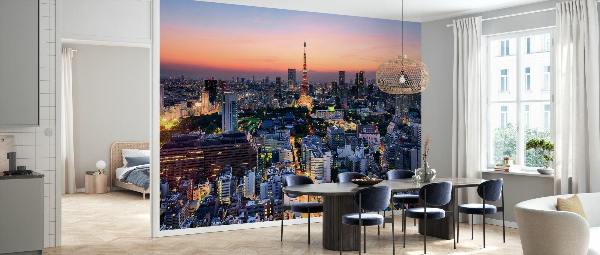 Tokyo på en varm sommarafton - Tapet - Kök