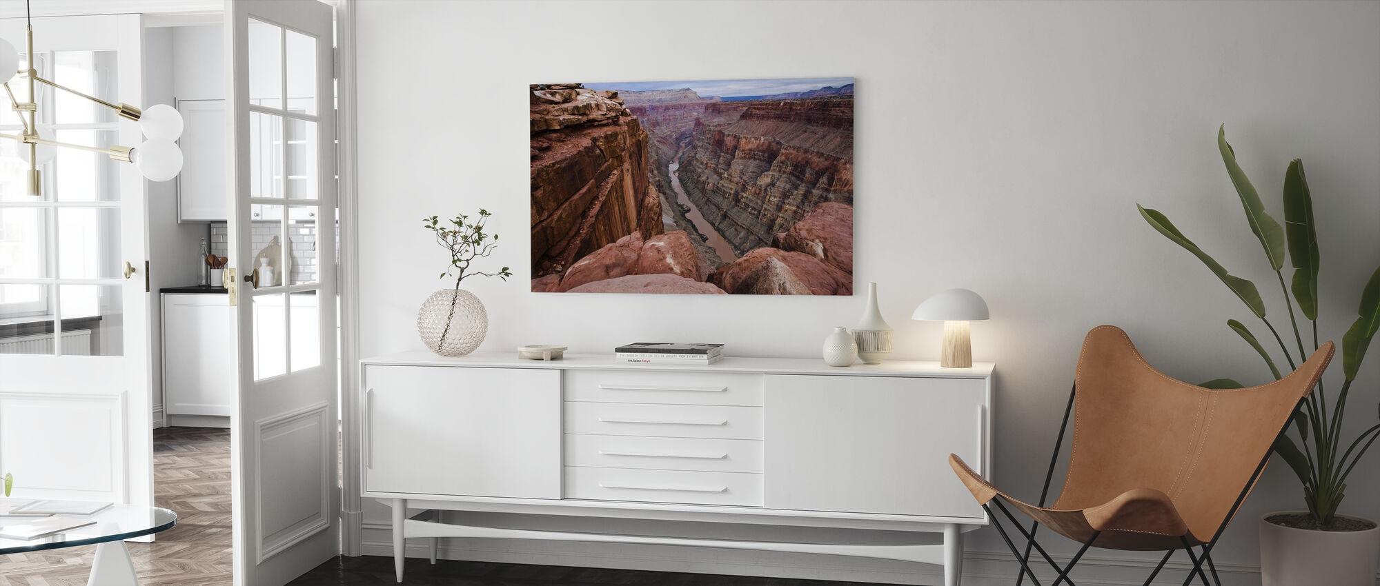 High above the Colorado River - Canvas print - Living Room