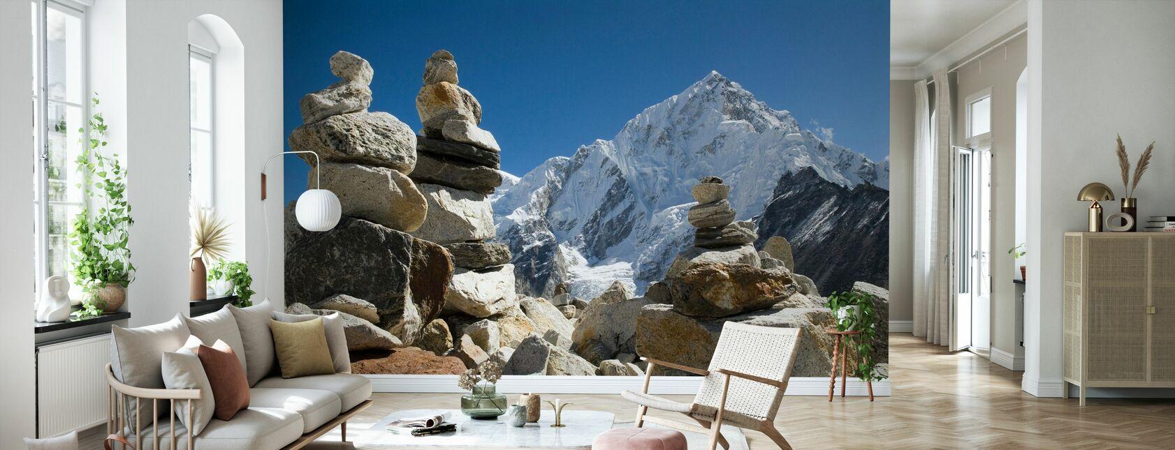 Stosy skalne w Himalajach - Tapeta - Pokój dzienny