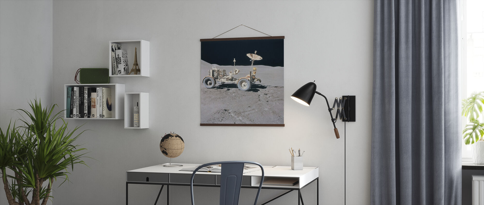 Lunar Vehicle on the Moon - Poster - Office