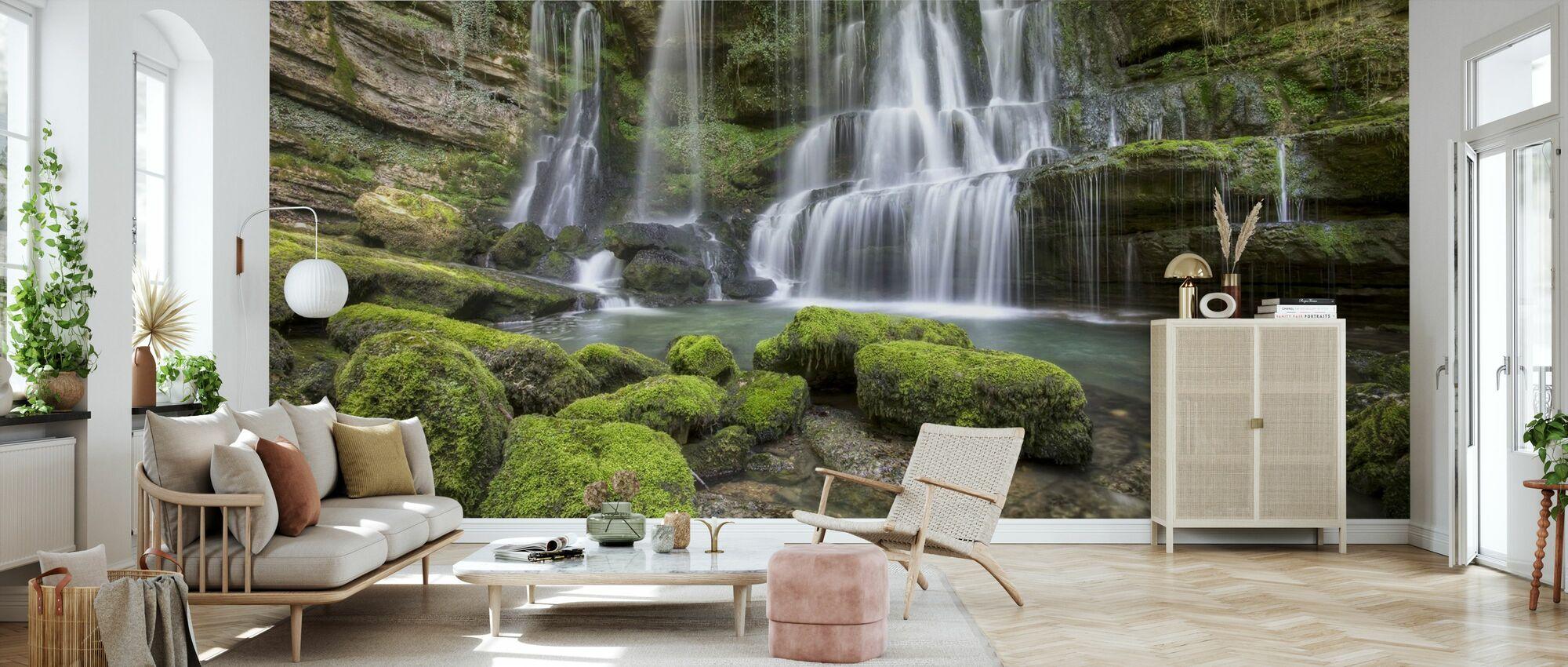 Waterfall of Verneau - Wallpaper - Living Room