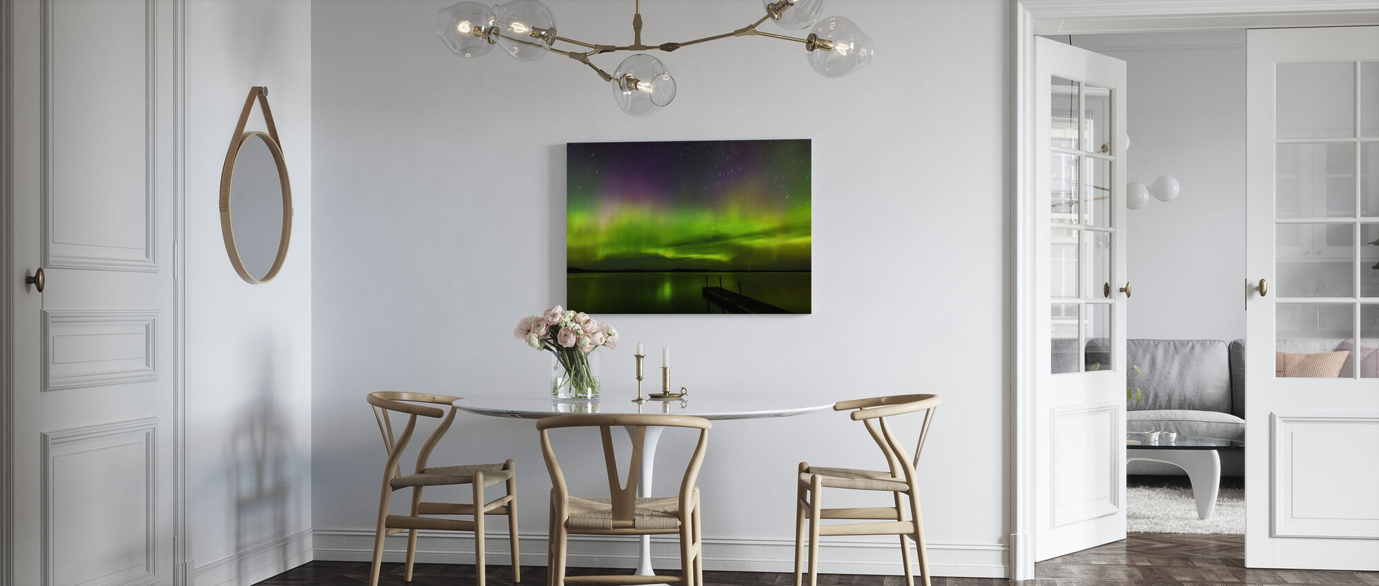 Aurora Borealis over Burntside Lake - Canvas print - Kitchen