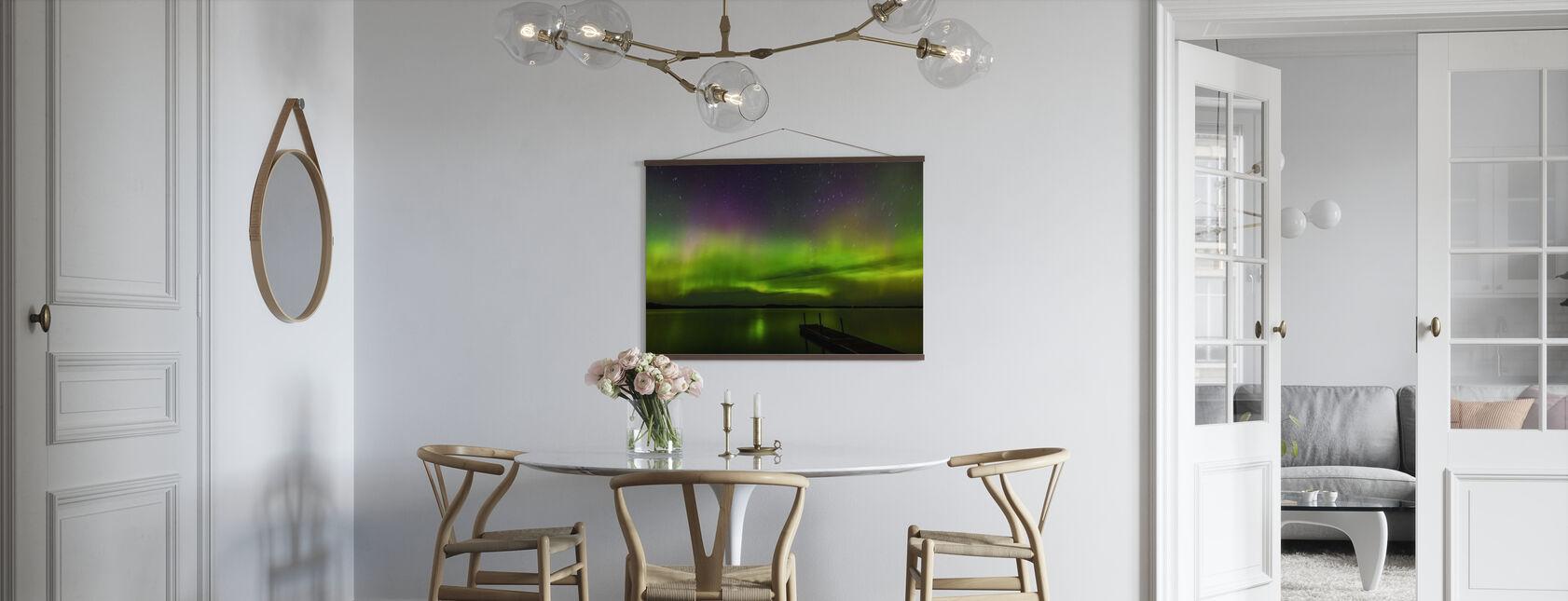 Aurora Borealis over Burntside Lake - Poster - Kitchen